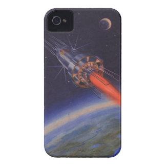 Ciencia ficción del vintage, Sci Fi Rocket sobre Carcasa Para iPhone 4 De Case-Mate