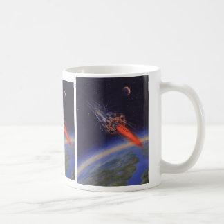 Ciencia ficción del vintage, Sci Fi Rocket sobre Taza De Café