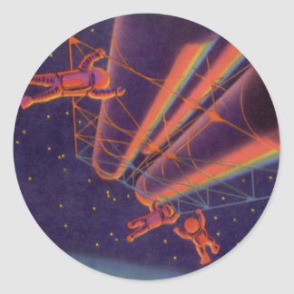 Ciencia ficción del vintage, Sci Fi, Spacewalk del Etiqueta Redonda