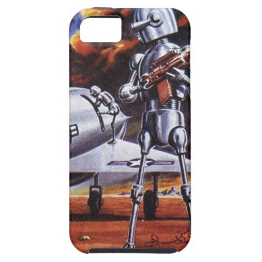 Ciencia ficción del vintage; Soldados militares de iPhone 5 Cárcasa