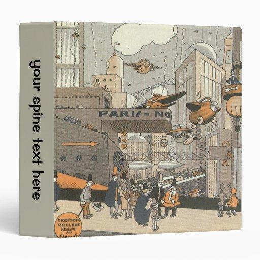 """Ciencia ficción del vintage Steampunk, París Carpeta 1 1/2"""""""
