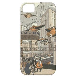 Ciencia ficción del vintage Steampunk París urbana iPhone 5 Case-Mate Cárcasas