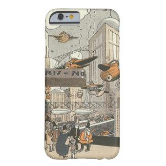 Ciencia ficción del vintage Steampunk París urbana Funda De iPhone 6 Barely There