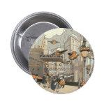 Ciencia ficción del vintage Steampunk París urbana Pin