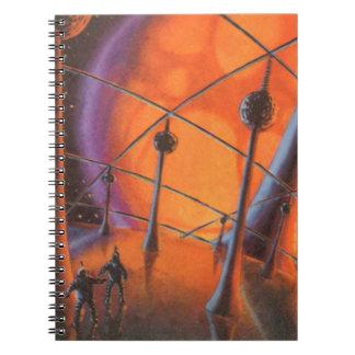 Ciencia ficción del vintage, Sun anaranjado y Libretas