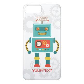 Ciencia ficción divertida linda del robot funda iPhone 7 plus