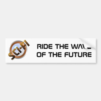 Ciencia ficción en oro pegatina para auto