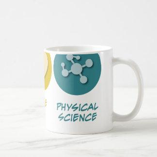 Ciencia física del amor de la paz taza