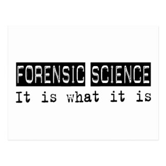 Ciencia forense es postal