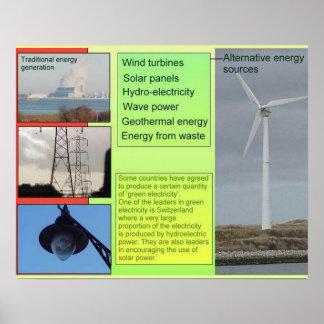 Ciencia, fuentes de energía alternativas póster