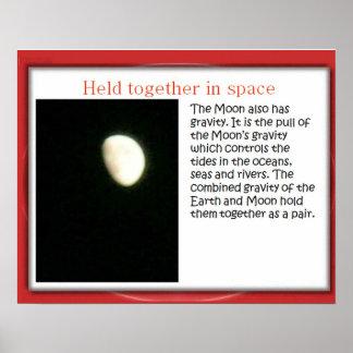 Ciencia, gravedad y espacio, ligados impresiones