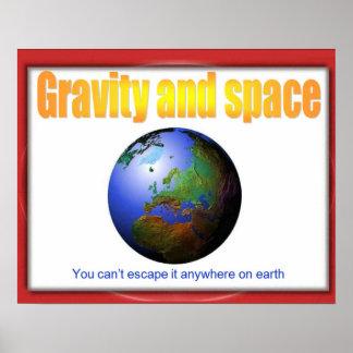 Ciencia gravedad y espacio usted no puede escapa poster