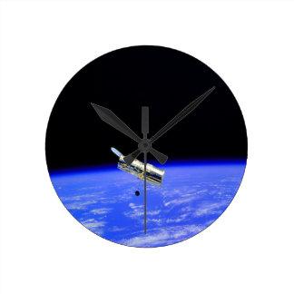 ciencia hubble de la atmósfera del telescopio espa reloj de pared