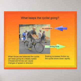 Ciencia la física fuerzas y movimiento completa poster