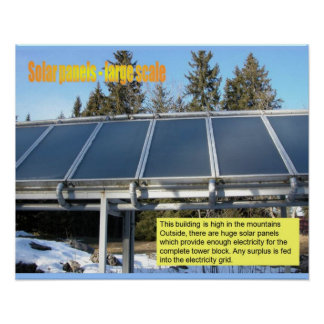 Ciencia, los paneles solares de la electricidad impresiones