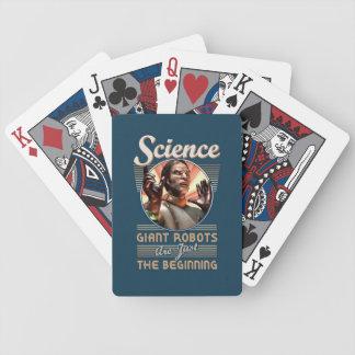 Ciencia: Naipes gigantes de los robots Cartas De Juego