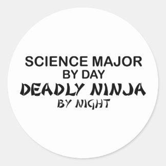 Ciencia Ninja mortal importante Pegatina Redonda