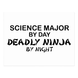 Ciencia Ninja mortal importante Postal