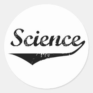 Ciencia Pegatina Redonda