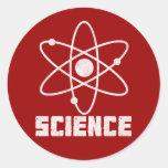 Ciencia Pegatinas Redondas