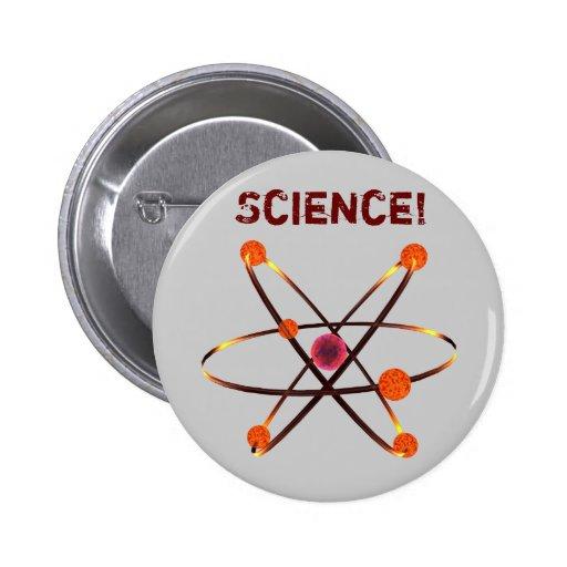 ¡Ciencia! Pin Redondo 5 Cm