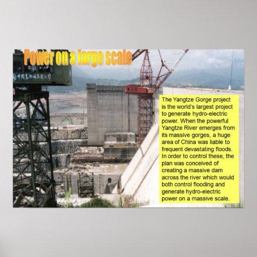 Ciencia, poder de la electricidad en un gran escal póster