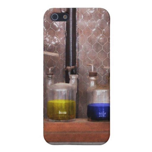Ciencia - químico - cristalería para los pares iPhone 5 cobertura