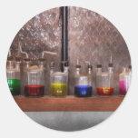 Ciencia - químico - cristalería para los pares etiquetas