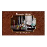 Ciencia - químico - equipo de la química tarjetas de visita