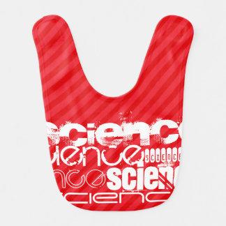Ciencia; Rayas del rojo del escarlata Baberos De Bebé