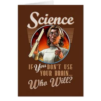Ciencia: ¿Si USTED no utiliza su cerebro, que lo Tarjeta De Felicitación