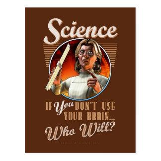 Ciencia: Si USTED no utiliza su cerebro… Postales