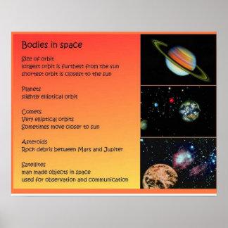 Ciencia, Sistema Solar, cuerpos en espacio Posters