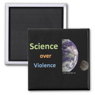 Ciencia sobre violencia imán cuadrado
