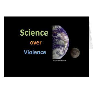 Ciencia sobre violencia tarjeta de felicitación