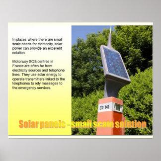 Ciencia, solución de la pequeña escala, los panele poster