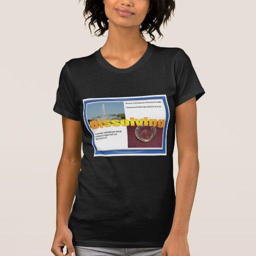 Ciencia, soluciones, química, disolviendo camisetas