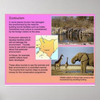 Ciencia, turismo ecológico del turismo de la geogr póster
