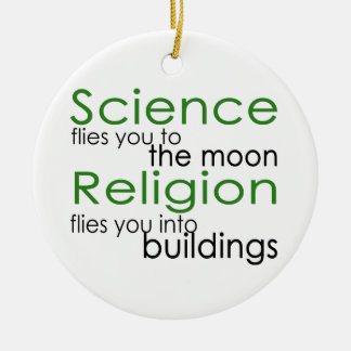 Ciencia y religión ornamento para arbol de navidad