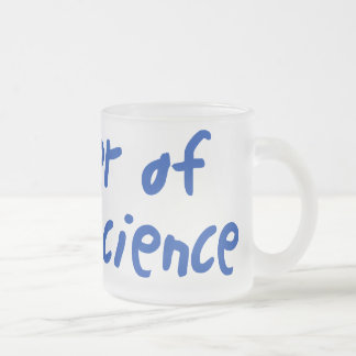 Ciencias sociales taza de café esmerilada