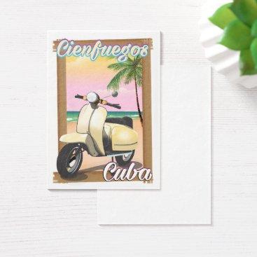 Beach Themed Cienfuegos City Cuban travel poster Business Card