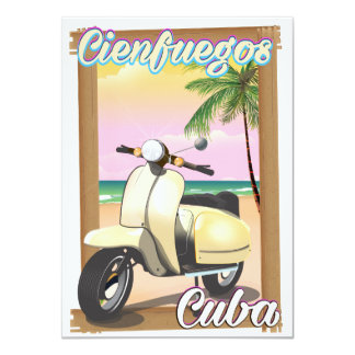 Cienfuegos City Cuban travel poster Card
