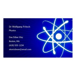 Científico atómico tarjetas de visita
