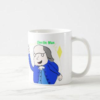Científico de Benjamin Franklin en la taza