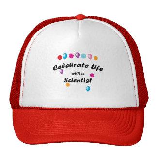 Científico de la celebración gorras de camionero