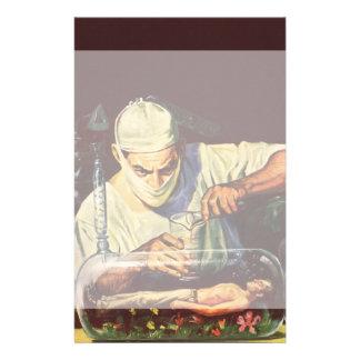 Científico de la ciencia ficción del vintage en  papeleria
