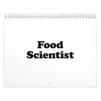 Científico de la comida calendario de pared