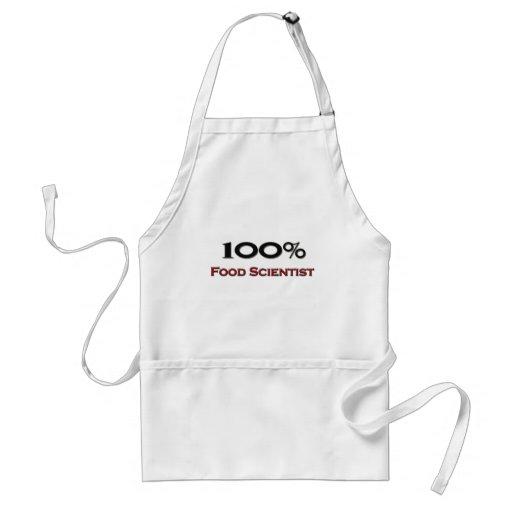 Científico de la comida del 100 por ciento delantal