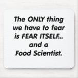 científico de la comida del miedo tapetes de raton