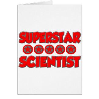 Científico de la superestrella tarjetón